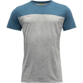 Devold Norang T-Shirt Men, grey melange/blue melange